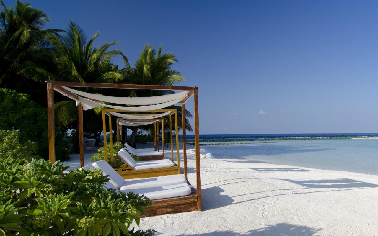 Wellness wallpaper hochkant  malé malé Lily Beach Resort auf den Malediven