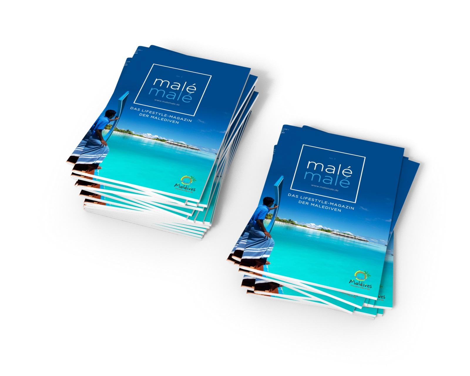 Malé Malé Erstausgabe Magazin Stapel