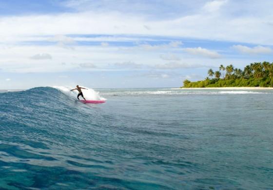 Surferparadies auf den Malediven