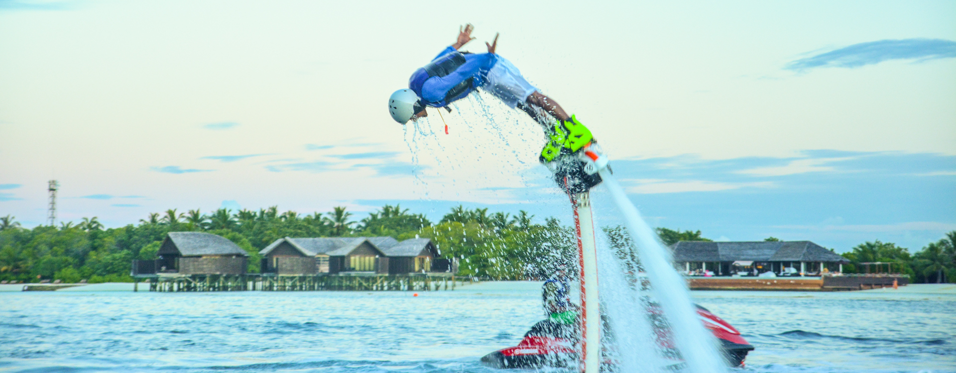Flyboarding auf den Malediven